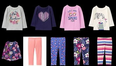 NEW GYMBOREE girls Mixed and Match (Sept) long sleeve tee leggings 3T 4T 5T PICK
