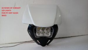 Universal Pit Dirt Quad Bike 6 Led headlight spot Head light Crf50 Crf70 Crf110