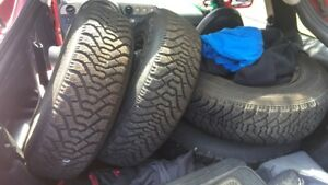 p205/75R14 brand new steel tires and rims