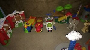 Huge little people toy lot