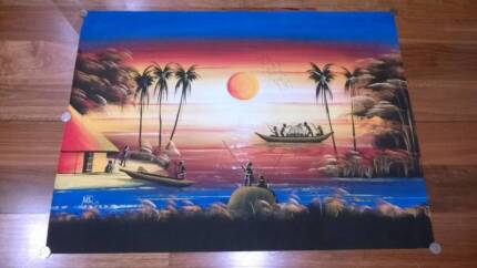 Exquisite original hand-painted African picture on canvas Woodvale Joondalup Area Preview