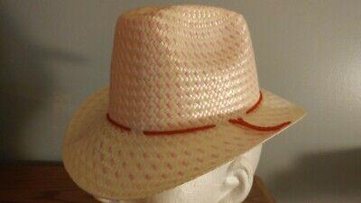 LIGHT PINK BABY INFANT TODDLER SOFT STRAW WESTERN COWBOY HAT (ADJUSTABLE)  ](Toddlers Cowboy Hat)