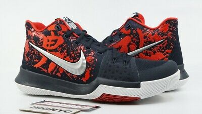 1d4e7e489af NIKE KYRIE 3 NEW SIZE 12 SAMURAI MULTICOLOR RED NAVY 852395 900