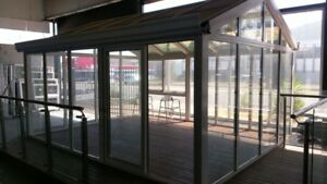 Factory Sale Brand New Double Glazed Aluminium Window and sunroom