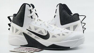 bf3d5ba3d69f NIKE ZOOM HYPERFUSE 2013 TB NEW SIZE 15 WHITE BLACK 615496 100