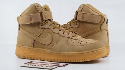 NIKE AIR FORCE 1 AF1 HIGH 07 LV8 USED SIZE 8 FLAX OUTDOOR GREEN GUM 882096 200