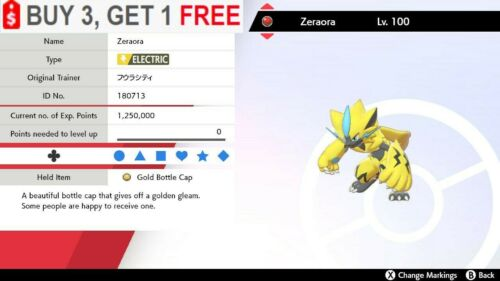 ✨ Zeraora ✨ Pokemon Sword and Shield Perfect IV🚀Fast Delivery🚀