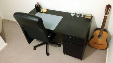 Black/Brown Desk