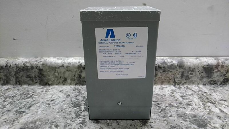 Acme Electric T253010S 120VAC, 240VAC Output 1kVA Single Phase Transformer