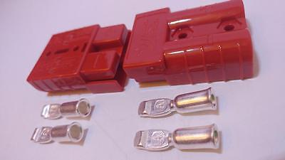 Authentic Anderson SB50 Connector Kit Red 8/12  2 Pack 2 Connectors/4Pins