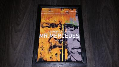 """MR MERCEDES CAST x2 PP SIGNED & FRAMED A4 12X8"""" PHOTO POSTER HARRY TREADAWAY"""