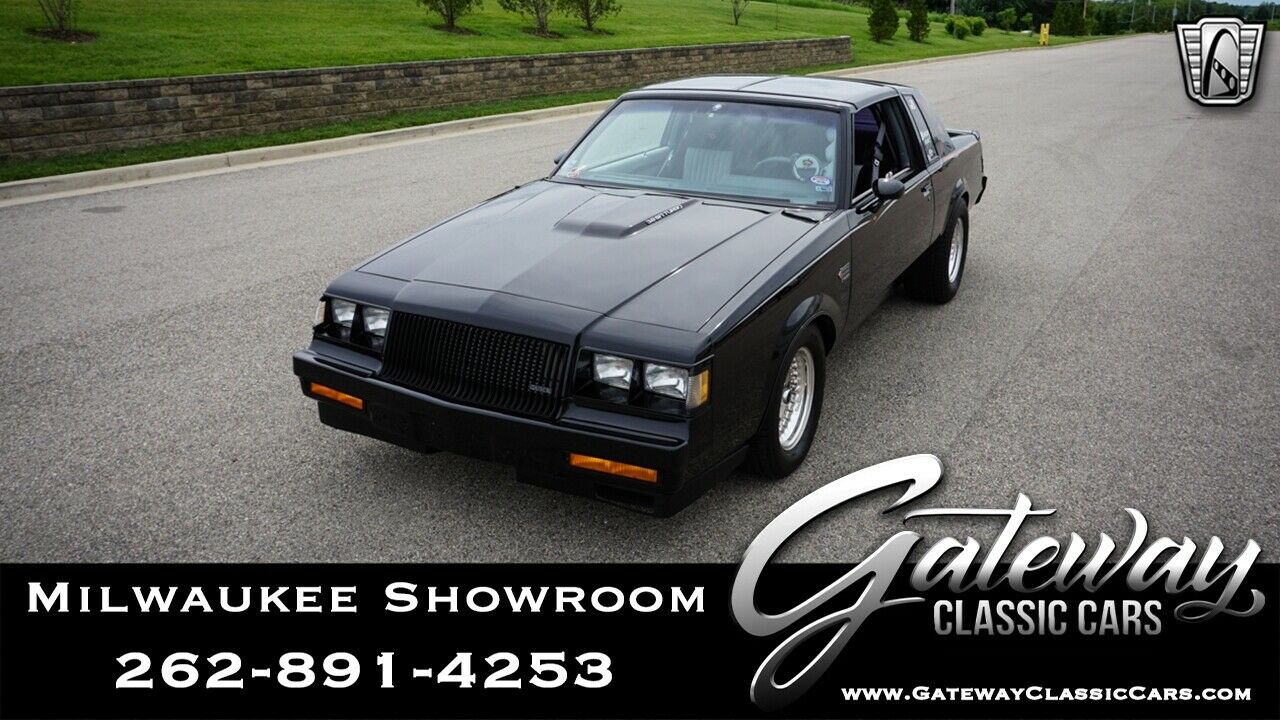 Black 1987 Buick Grand National Sedan 3.8L V6 F OHV 4 Speed Automatic Available