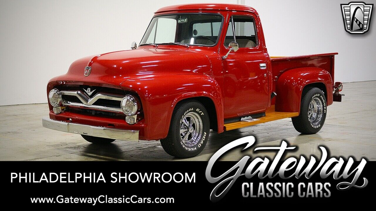 Red 1955 Ford Pickup  272 ci V8 3 Speed Manual Available Now!