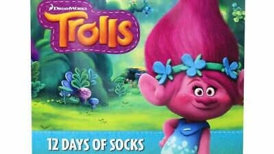 New Trolls Advent Calendar Christmas Kids 12 Days Socks Poppy Branch Guy 2018