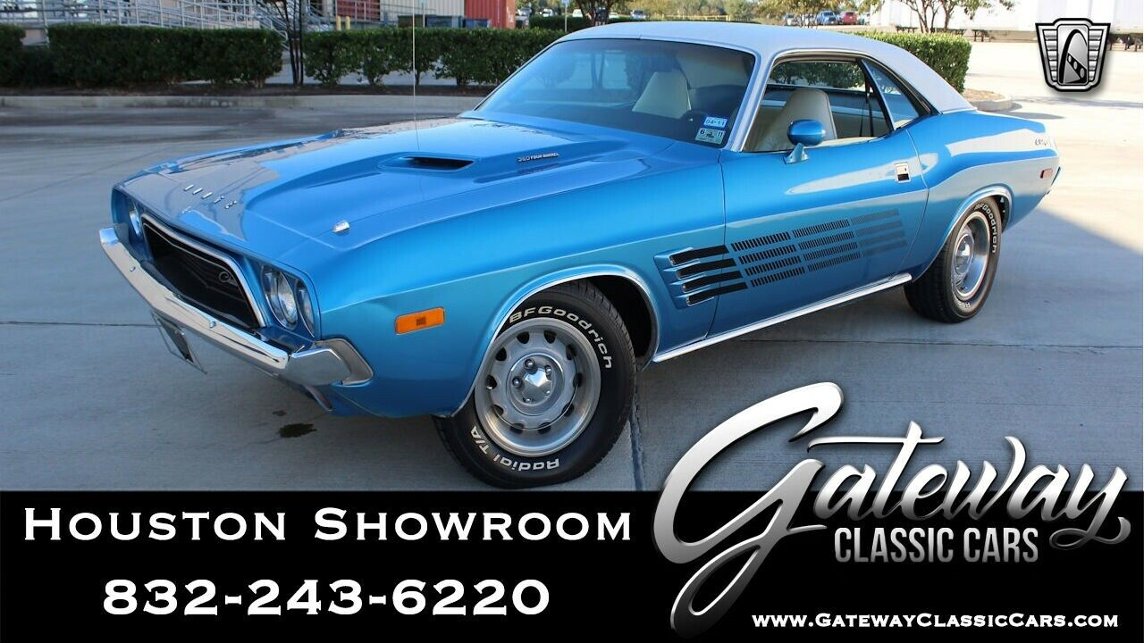 Blue 1974 Dodge Challenger Numbers Matching 360 CID V8 3 Speed Automatic Availab