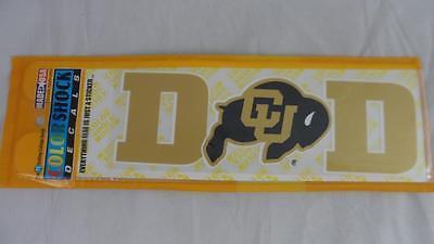 NEW Lot of 2 University of Colorado CU Buffaloes DAD Color Shock Sticker Decals - University Of Colorado Buffaloes