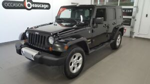 2013 Jeep Wrangler Unlimited Sahara, toit souple, NO DAMAGE REPO