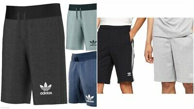 MENS ADIDAS ORIGINALS TREFOIL LOGO SHORTS 3 STRIPES 3 COLOURS SIZES S - XL
