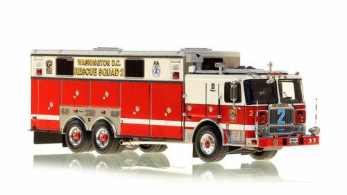 Washington DC 2008 Seagrave Rescue Squad 2 1/50 Fire Replicas FR092 Brand New