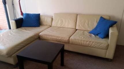 Leather Sofa Enfield Burwood Area Preview