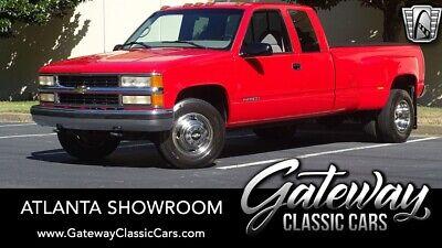 1997 Chevrolet C/K Pickup 3500  Red 1997 Chevrolet C/K 3500 Extended Cab Pickup 8 Cylinder Engine 7.4L/454 5m w/