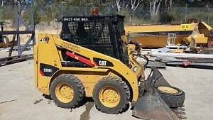 CAT 226B3 SKID STEER LOADER, Broom and Forks used 2 times Rathmines Lake Macquarie Area Preview