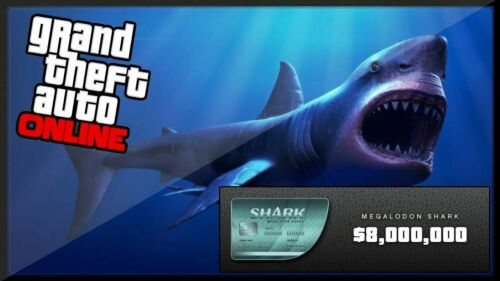 Xbox One and PS4 Shark Card GTA V PS4 Grand Theft Auto Online $8,000,000+Bonuses