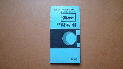 Używany, ZETOR Schlepper 8111,8145,12111,12145,10111... Original Bedienungsanweisung 1/86 na sprzedaż  Wysyłka do Poland