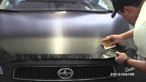 CARBON FIBER BLACK HOOD ROOF WRAP! SUMMER SPECIAL!