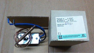 2 White Rodgers 2b61-195 Temp. Control Thermostats With Remote Sensing Bulb