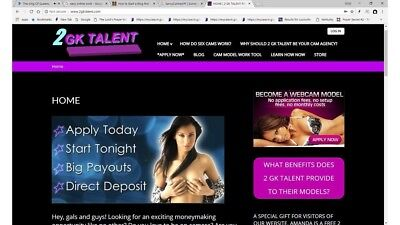 Own Your Own Webcam Model Recruiting Website For Sale Work At Home Online