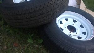 Trailer tires on rims