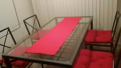 IKEA Dining Table Set with 4 Chairs (Black, (Round Black Glass Dining Table 4 Chairs)