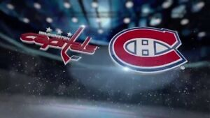 Billets Washington - Canadiens 1 novembre section 210 Desjardins
