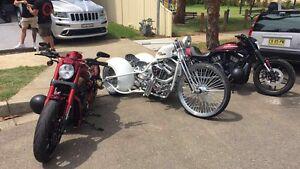 Harley Davidson chopper bobber trike break out vrod night rod softtail Greenacre Bankstown Area Preview