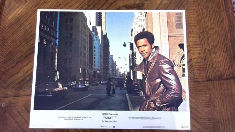 1971 Original Release Shaft Lobby Card Richard Roundtree Blaxploitation