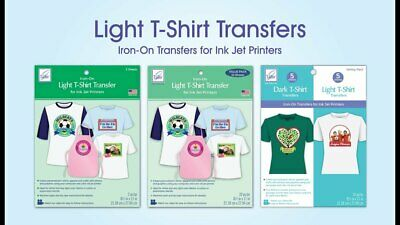 Heat Press Transfer Paper Light. Inkjet Heat Transfer 10 Sheets 8 12 X 11