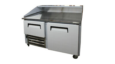 48 New Us-made Two 1-12 Door Refrigerated Dough Retarader Pizza Prep Table