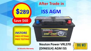 Neuton Power VRL370 (DIN65LH) AGM ISS Slacks Creek Logan Area Preview