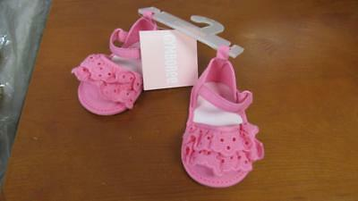 GYMBOREE All Ruffled Up Baby Girl Crib Shoes Sandals Pink w/Lace Size 2 NEW](All Girl Shoes)