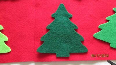 Wholesale Craft Felt - Applique,Sew on,Christmas Trees,Felt,Shades of  Green, Crafting, Quilting,USA