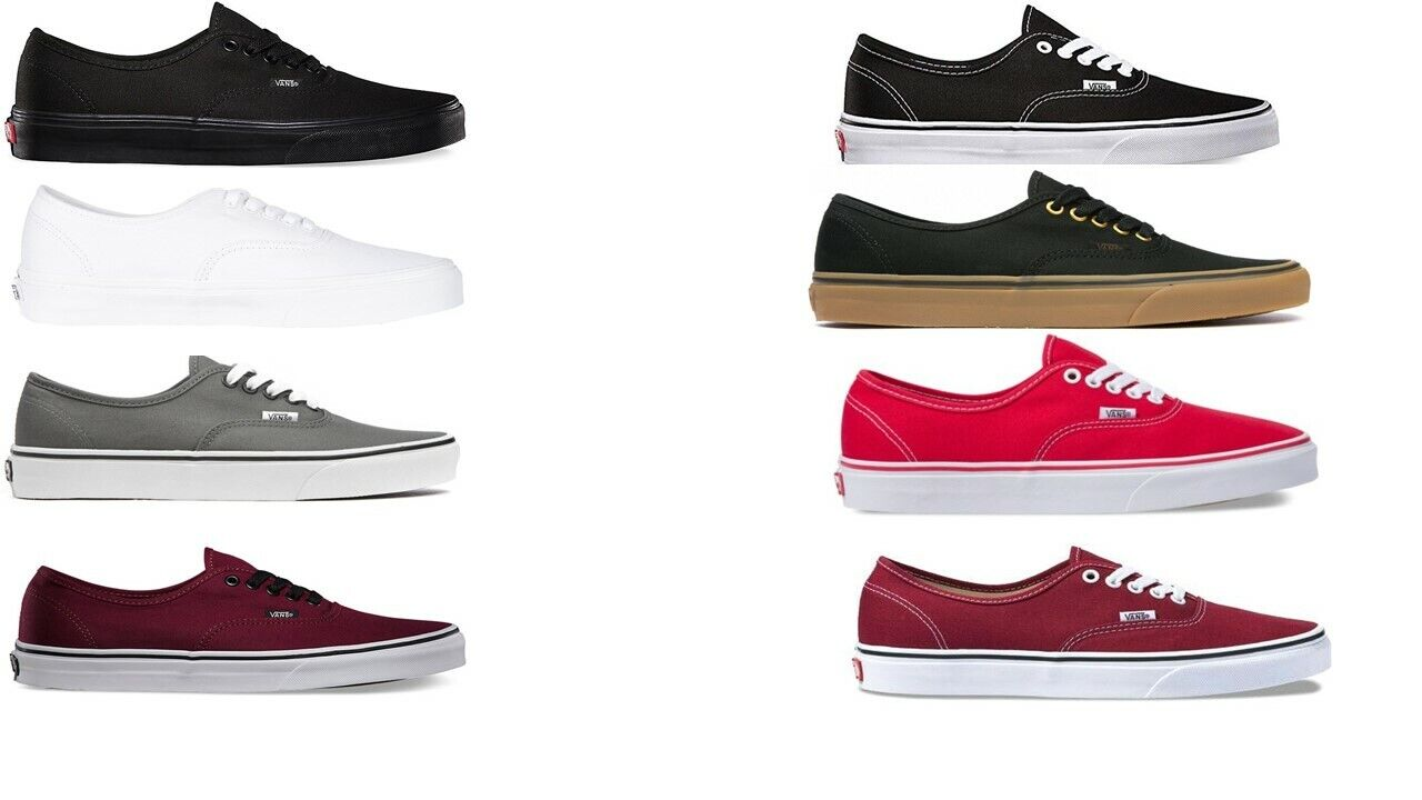 VANS CLASSIC AUTHENTIC NEW Sizes 3.5-15 Canvas Free Fast Shi