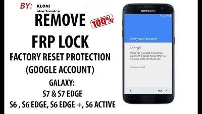 Instant Remote Google Account Removal Frp All Samsung S6 S6 Edge S7 S7 Edge