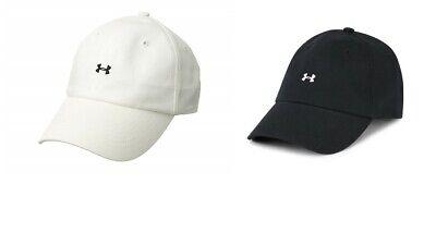 Under Armour Womens Logo Baseball Cap Size One Size Black White