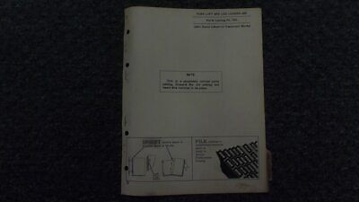 John Deere Jd 850 Fork Lift Log Loader Parts Catalog Manual Pc768