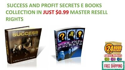 SUCCESS & PROFIT SECRETS E BOOKS PDF COLLECTION JUST $0.99 MASTER RESELL RIGHTS
