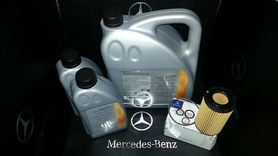C220 CDI OIL FILTER AND ENGINE OIL GENUINE MERCEDES PARTS SERVICE KIT 651 DIESEL
