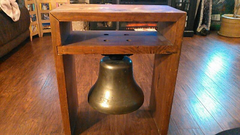 Vintage RARE Large Brass/ Bronze Maritime Bell