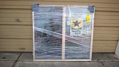 "BRAND NEW: Nice Pella TAN VINYL House Semi-SLIDER WINDOW ( 52"" W x 48"" H )"
