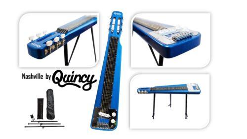 Sparkle BLUE Nashville QUINCY 6 String LAP Steel Slide GUITAR legs tone bar